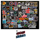 Lot of 50 Vintage Travel Toolbox Label Decal Reel USA Fishing Fish Stickers