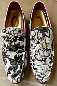 Mens Floral Shoes Size 9