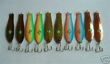 "10 NEW Assorted Spoon Metal Fishing Lure Bait Lot 3.75"" hooks jig lures"