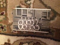B1r postcard used girls at school line up old undated