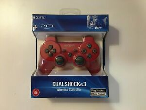 Dualshock 3 Wireless Controller Red (Sony PlayStation 3, 2009) PS3 - New Sealed