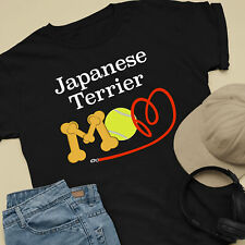 Japanese Terrier Dog Mom and Dad Comfy Cute Dog Lover T-Shirt