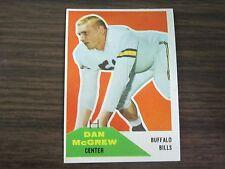 1960 Fleer # 3 Dan McGrew Card B9 Buffalo Bills / Purdue