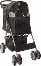 Paws & Pals- Double Stroller (Easy Walk-Folding-Travel) Carriage For Dogs & Cats
