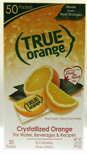 True Orange ~ Crystallized Orange ~ Real Flavor From Real Fruit ~ 50 Packets