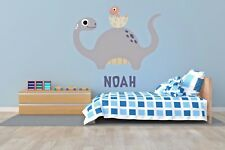 Customizable Name Dinosaurs Wall Decal Decor Vinyl Bedroom Boy Stickers J482