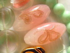 """Neue ovale Opal Rose """"Ciocca Aventurina"""" Muranoperle m.Schleife-10x22mm-"""