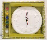 Paint Your Own Garden Clock Fun Indoor & Outdoor Creative Kids Activity