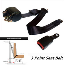 Universal 3 Point Retractable Adjustable Safety Seat Belts Car Safety Strap Kit