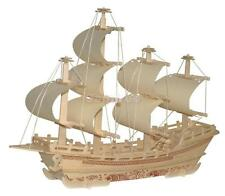 Merchant Ship Shapes DIY 3D Jigsaw Wooden Model Construction Kit Toy Puzzles