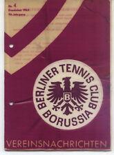 Tennis Borussia Berlin - Vereinsnachrichten - Dezember 1964
