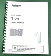 Nikon 1 V3 User's Manual: 156 Pages & Protective Covers