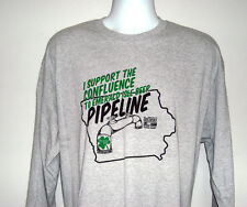 NEW MENS CONFLUENCE BREWING TO EMERALD ISLE BEER PIPELINE LONG SLEEVE T SHIRT XL