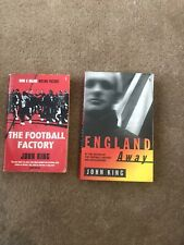 The Football Factory and England Away by King, John Paperback Books X 2