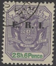 TRANSVAAL SG242 1902 2/6 DULL VIOLET & GREEN FINE USED