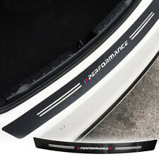 "90cm / 34.5"" Trunk Carbon Fiber Texture Bumper Guard Hollow-out Sticker Black"