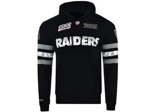 Mitchell & Ness NFL Raiders Herren Kapuzenpullover Schwarz Sweatshirt