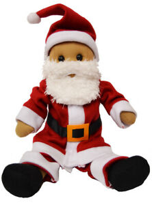 Father Christmas Rag Doll by Powell Craft Classic Red Suit Hat Beard Large 40cm