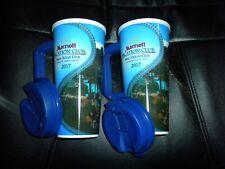 lot of 2 Marriott Vacation Club Maui Ocean Club Plastic Mugs with lids 2017