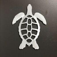 SEATURTLE Aluminum Metal Wall Art 18 X 14 Skilwerx Nautical Ocean Beach House
