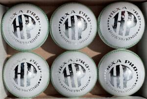HP 6 X 156 gm Leather 4 Piece Test Match Cricket hard Balls (6 balls)