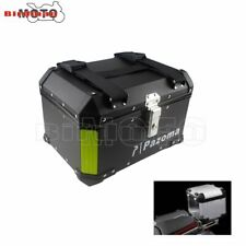 Universal Motorcycle Rear Top Box Scooter Aluminum 46L Storage Luggage Tail Case