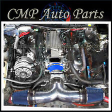 BLUE 1994-1995 96  CHEVY IMPALA SS CAPRICE 4.3L 5.7L V8 DUAL AIR INTAKE KIT