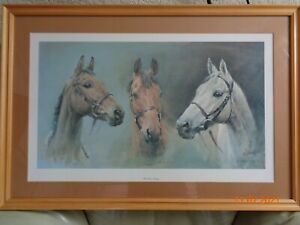 SUSAN CRAWFORD We Three Kings Red Rum Desert Orchid Arkle Frame Size 83cm X 56cm
