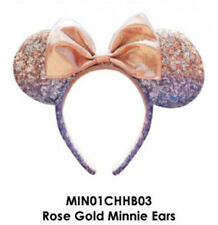 Rose Gold Minnie Mouse Ears & Bow Sequins Disney Headband