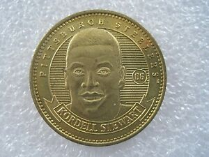 1998 Pinnacle Mint Kordell Stewart Pittsburgh Steeler Football Brass Token Medal