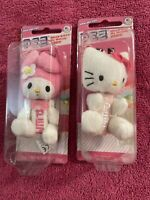 Pez hello kitty my melody KEROPPI key chains Lot of two
