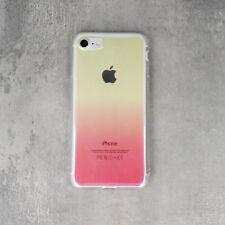 ^ Apple iPhone 5 PINK Schatten Ombre Gradient Transparent Cover Case Schale Etui