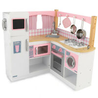 KidKraft Grand Gourmet Deluxe Corner Kitchen Kids Pretend Toy Play Set 53185