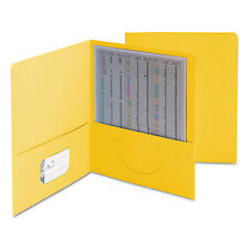 Smead Two-Pocket Folder Textured Paper Yellow 25/Box 87862