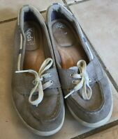Keds Women's Grey Slip On Boat Shoes Fashion Sneaker Size 6.5