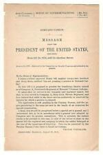 President Grover Cleveland Re: Bernard Carlin Disability Pension Request