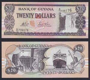 Guyana 20 dollars 1996 FDS/UNC  C-08