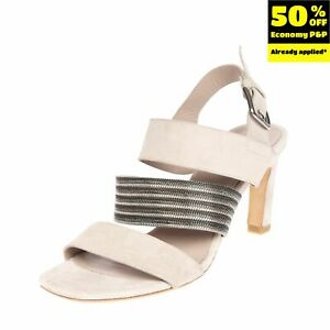RRP €195 VIC Leather Slingback Sandals EU 36.5 UK 3.5 US 6.5 Chain Made in Italy