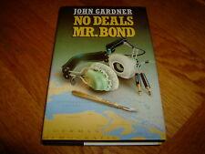 JOHN GARDNER-NO DEALS MR BOND-JAMES BOND-SIGNED-1ST-NF-1987-HB-VERY RARE