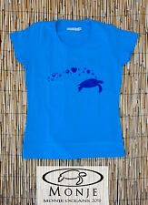 MonjeOceans Camiseta T-shirt Tortuga Surf Mujer Woman Azul Blue Talla S
