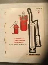 Lincoln Engineering Co. St Louis Mo. Kleenseal Lubricating Eq. Catalog 76, 1961