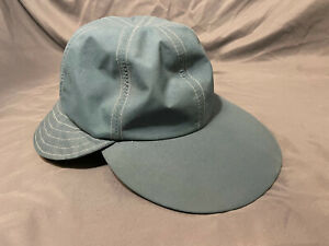 Vtg Columbia Gore-Tex Medium Long Bill Cap w/ Neck Flap Hat Made In USA