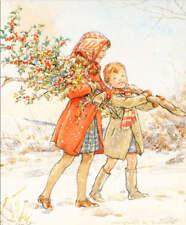 Christmas Children gathering Holly by Margaret Tarrant