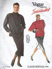 Vogue Sewing Pattern 1768 Individualist Designer Montana Skirt Blouse 1980s