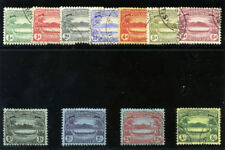 Solomon Islands 1908 KEVII Small Canoes set complete VF used. SG 8-17. Sc 8-18.