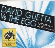 DAVID GUETTA vs THE EGG Love don't let me go 4 TRACK CD NEW - NOT SEALED