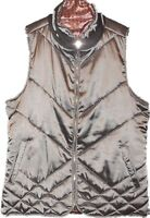 Kensie Opal Gray Reversible Vest Jacket Women's Size Medium New