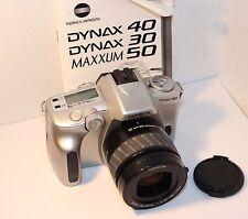 MINOLTA DYNAX 40 AF SLR BODY + MINOLTA 35-80mm f4 - 5.6 AF ZOOM LENS & INSTs