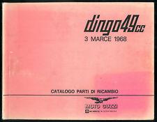 Catalogo Parti di Ricambio MOTO GUZZI Dingo 49 cc Catalogue de Pièces en Italien