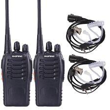 2pcs Baofeng BF-888S UHF 400-470MHZ Handheld Radio Ham Walkie Talkie 16 Channels